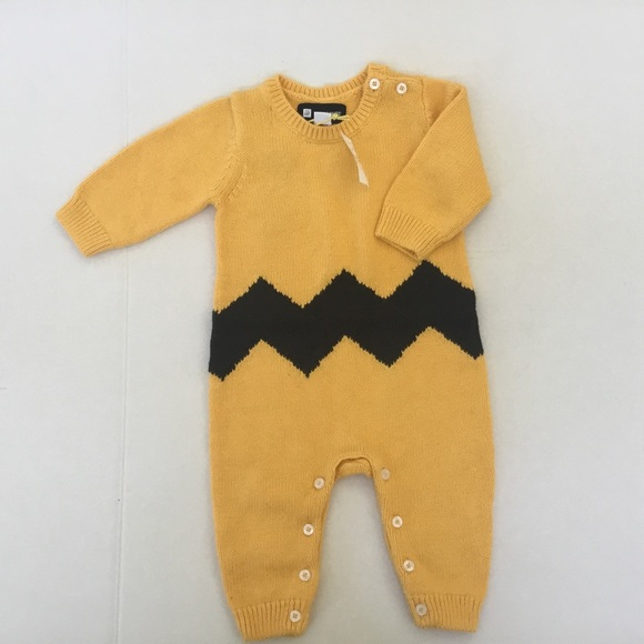 6017d6b3d GAP One Pieces | Baby Peanuts Charlie Brown Knit Onesie 36mo | Poshmark